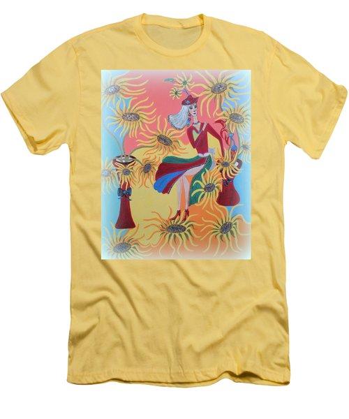 Sunflower's Contessa  Men's T-Shirt (Slim Fit) by Marie Schwarzer
