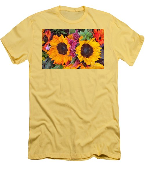 Sunflowers Eyes Men's T-Shirt (Slim Fit) by Jasna Gopic
