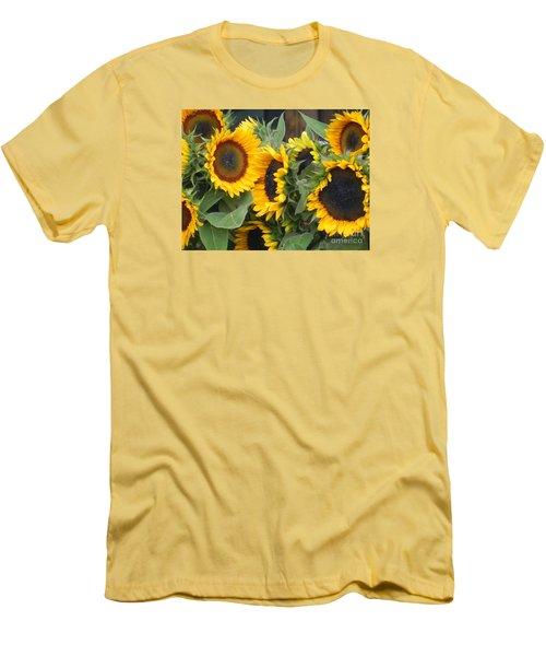 Sunflowers Two Men's T-Shirt (Slim Fit) by Chrisann Ellis
