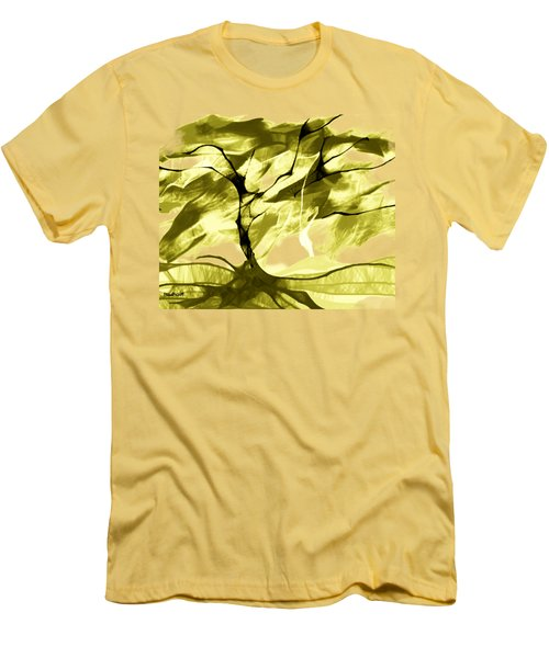 Men's T-Shirt (Slim Fit) featuring the digital art Sunny Day by Asok Mukhopadhyay
