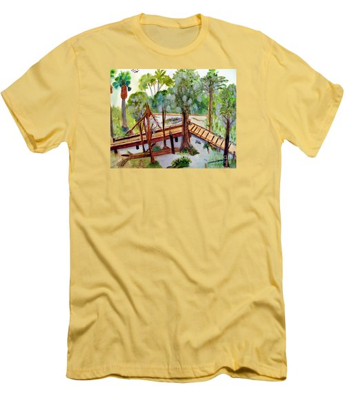 Sunny Day In Central Florida Men's T-Shirt (Slim Fit) by Sandy McIntire
