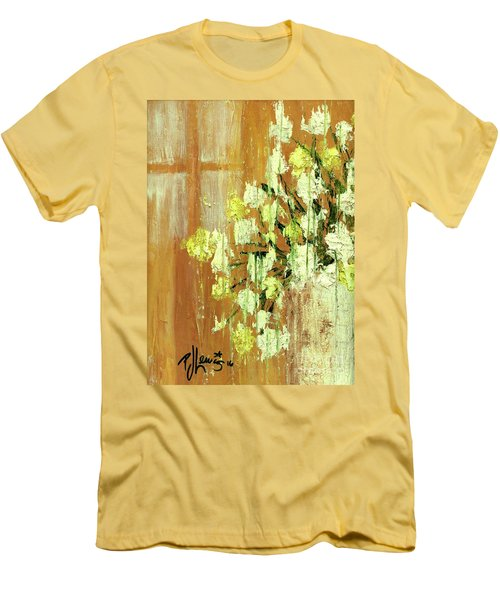 Sunny Flowers Men's T-Shirt (Slim Fit) by P J Lewis