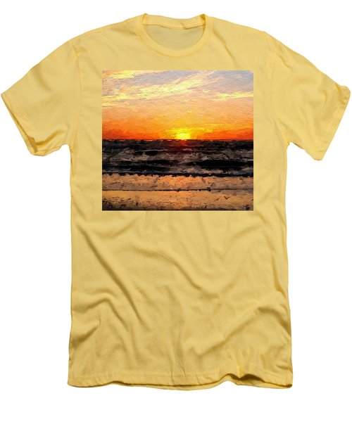Men's T-Shirt (Slim Fit) featuring the digital art Sunrise by Anthony Fishburne