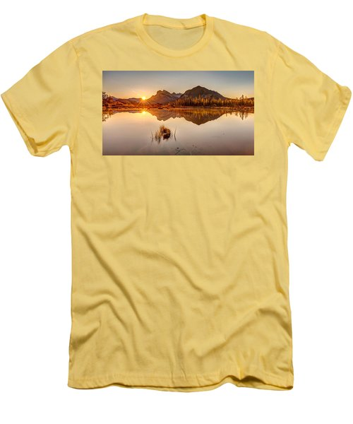 Sunrise At Banff's Vermilion Lakes  Men's T-Shirt (Slim Fit) by Pierre Leclerc Photography