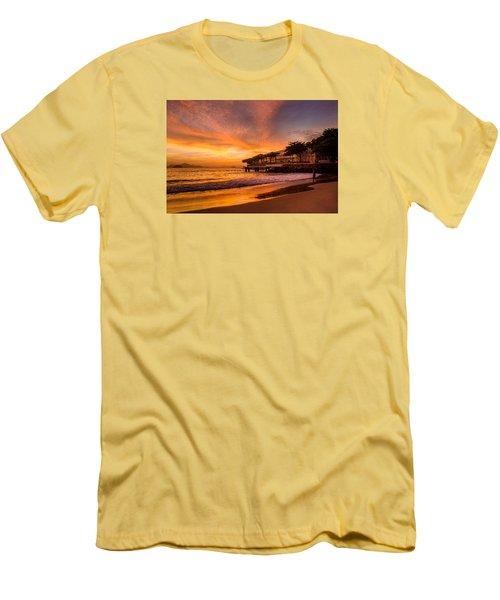 Sunrise At Copacabana Beach Rio De Janeiro Men's T-Shirt (Athletic Fit)