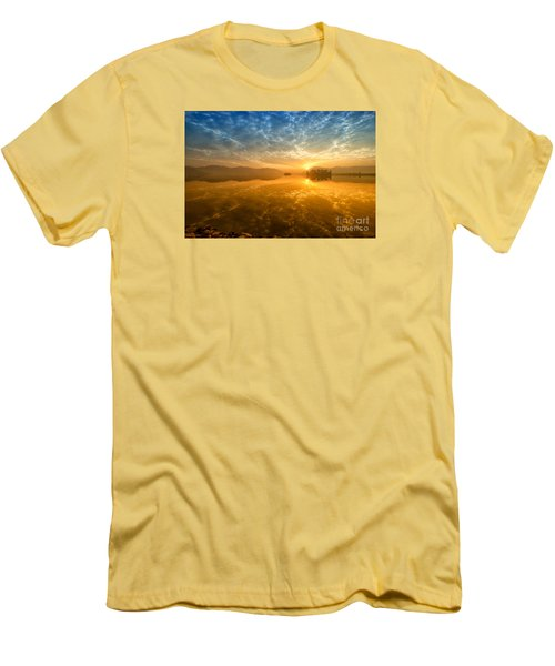 Sunrise At Jal Mahal Men's T-Shirt (Slim Fit) by Yew Kwang
