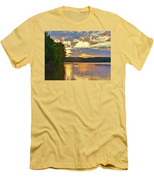 Sunrise At The Landing Men's T-Shirt (Athletic Fit)