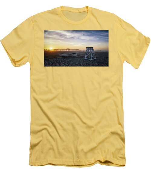 Men's T-Shirt (Slim Fit) featuring the photograph Sunrise In Avalon by Eduard Moldoveanu