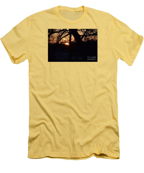 Sunrise In The Woods Men's T-Shirt (Slim Fit) by Mark McReynolds