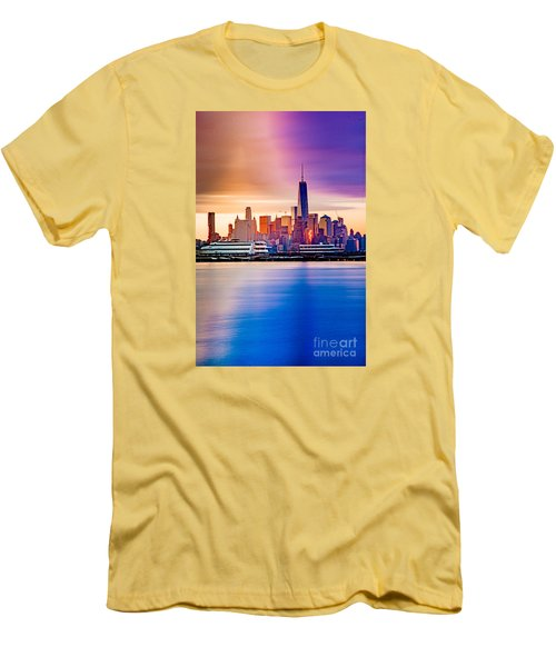 Sunrise On Freedom Men's T-Shirt (Athletic Fit)