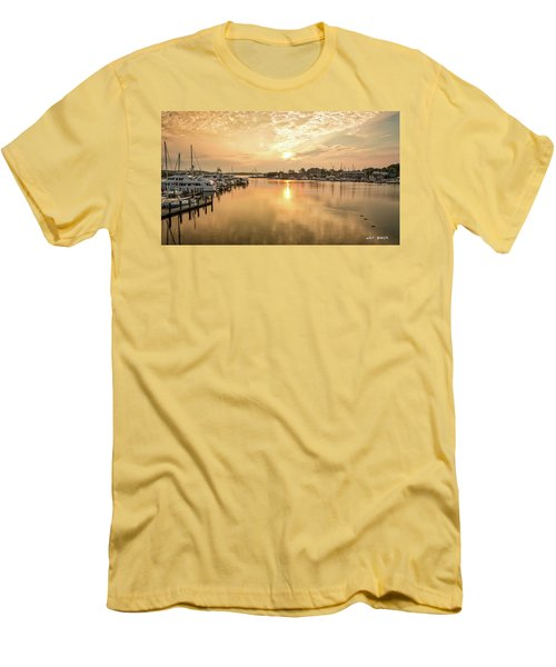 Sunrise On Spa Creek Men's T-Shirt (Athletic Fit)