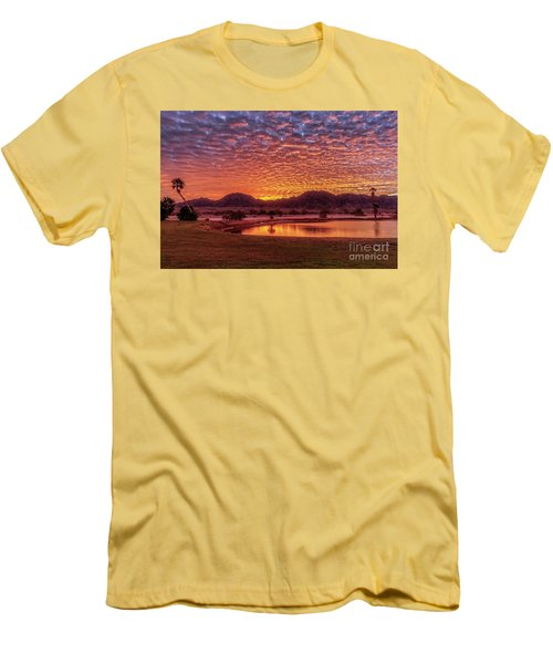 Sunrise Over Gila Mountain Range Men's T-Shirt (Slim Fit) by Robert Bales