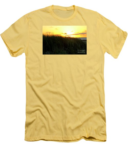 Sunrise  Over Sand Dunes Men's T-Shirt (Athletic Fit)