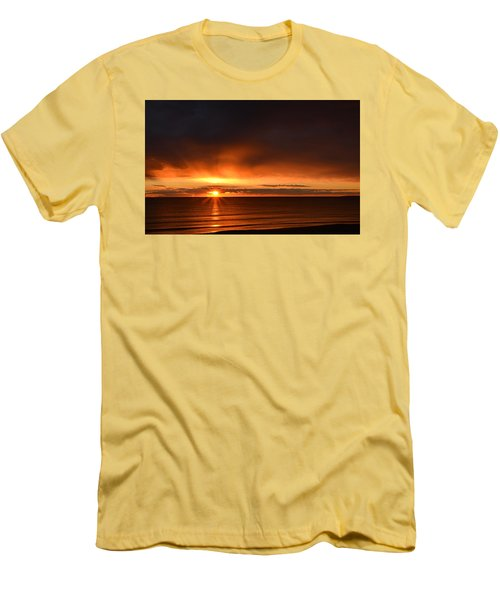 Sunrise Rays Men's T-Shirt (Slim Fit) by Nancy Landry