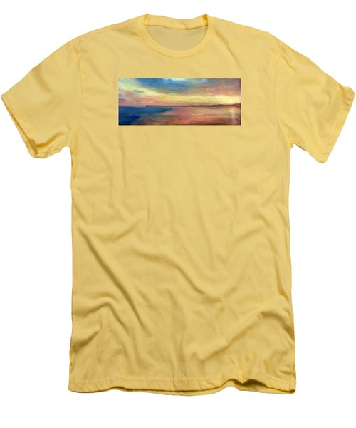 Sunset And Pier Men's T-Shirt (Athletic Fit)