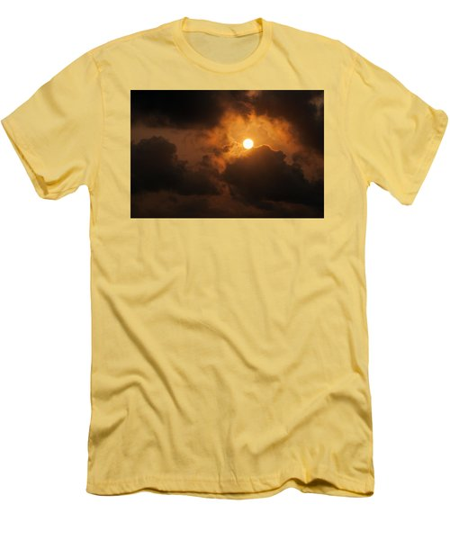 Sunset At Aruba Men's T-Shirt (Slim Fit) by Allen Carroll