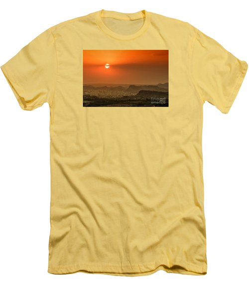 Men's T-Shirt (Athletic Fit) featuring the photograph Sunset At Jodhpur by Yew Kwang