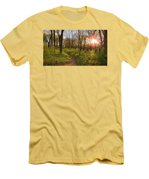 Sunset At Scuppernong Men's T-Shirt (Slim Fit) by Kimberly Mackowski