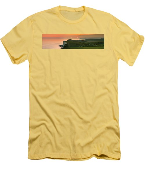 Sunset At The Belle Tout Lighthouse Men's T-Shirt (Athletic Fit)