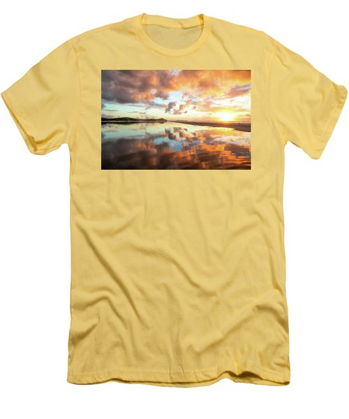 Sunset Beach Reflections Men's T-Shirt (Athletic Fit)
