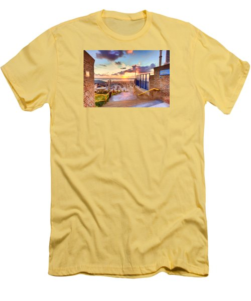Sunset By The Sea Men's T-Shirt (Slim Fit) by Nadia Sanowar