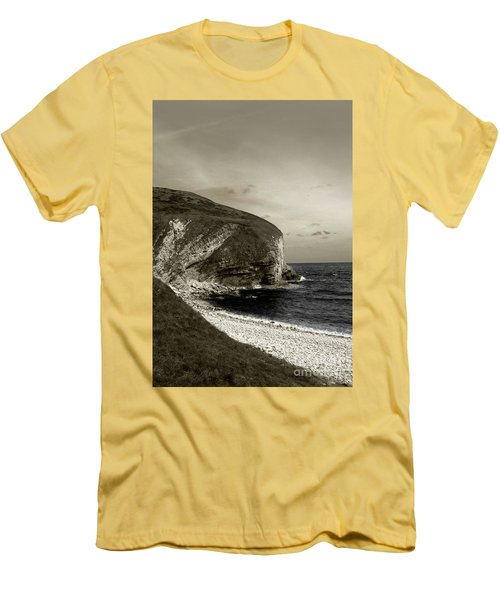 Sunset Cliff Men's T-Shirt (Slim Fit) by Sebastian Mathews Szewczyk