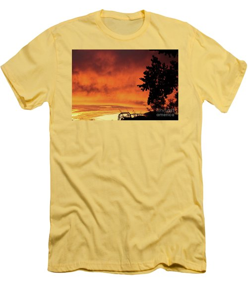 Sunset In Reno, Nevada Men's T-Shirt (Athletic Fit)