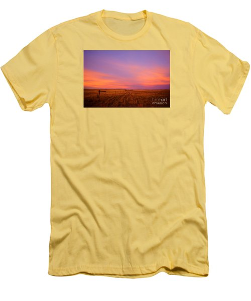 Sunset In Wyoming Men's T-Shirt (Athletic Fit)
