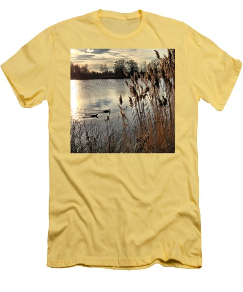 Sunset Lake  Men's T-Shirt (Slim Fit) by Kathy Spall