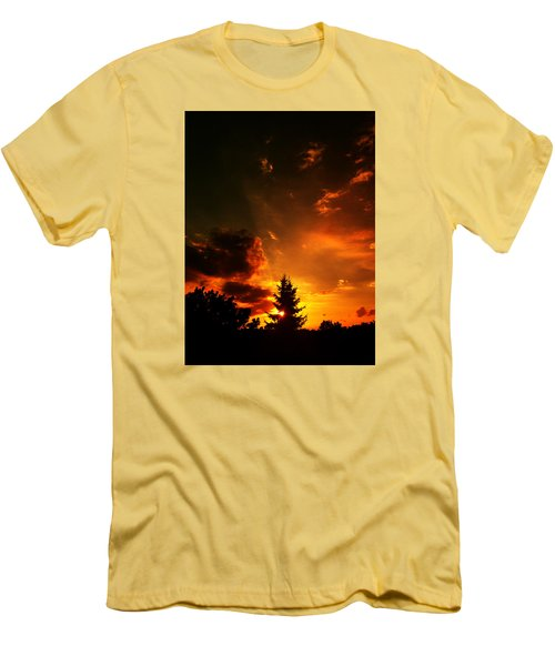 Sunset Madness Men's T-Shirt (Slim Fit) by Flavien Gillet