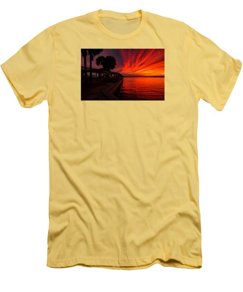 Sunset On Fire Men's T-Shirt (Slim Fit) by Dorothy Cunningham