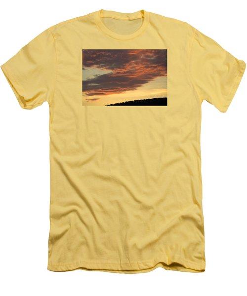Sunset On Hunton Lane #7 Men's T-Shirt (Slim Fit) by Carlee Ojeda
