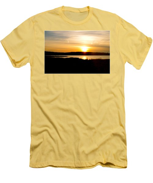 Men's T-Shirt (Slim Fit) featuring the photograph Sunset On Morrison Beach by Jason Lees
