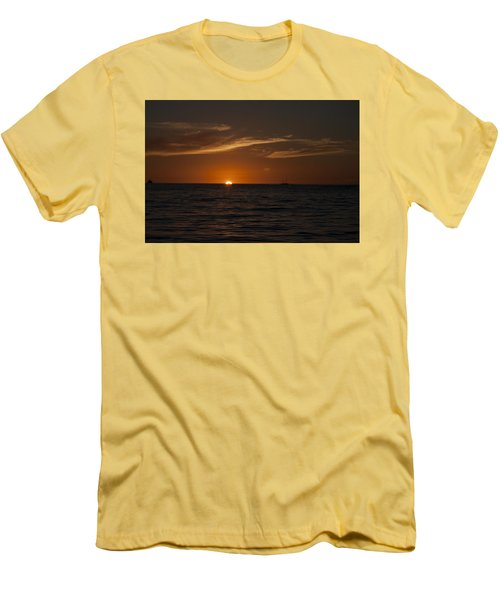 Sunset On Sea Of Cortez Men's T-Shirt (Slim Fit) by Ivete Basso Photography