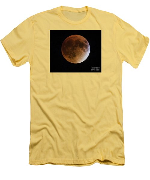 Super Blood Moon Lunar Eclipses Men's T-Shirt (Slim Fit) by Ricky L Jones