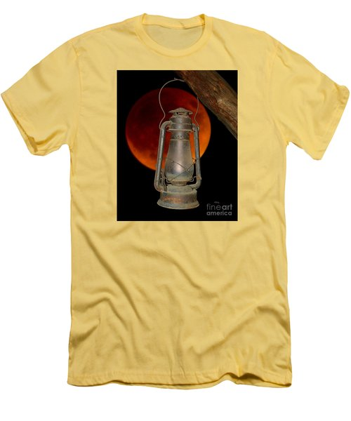 Men's T-Shirt (Slim Fit) featuring the photograph Eerie Light Of An Eclipsed Super-moon by Patrick Witz