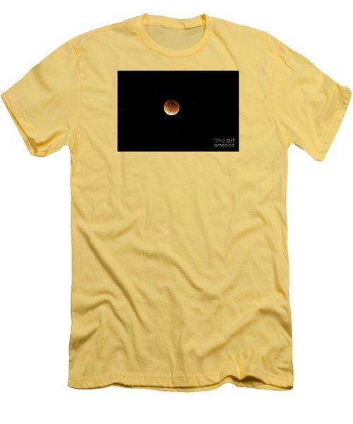 Men's T-Shirt (Slim Fit) featuring the photograph Super Moon Lunar Elipse Images- 2015 by Janie Johnson
