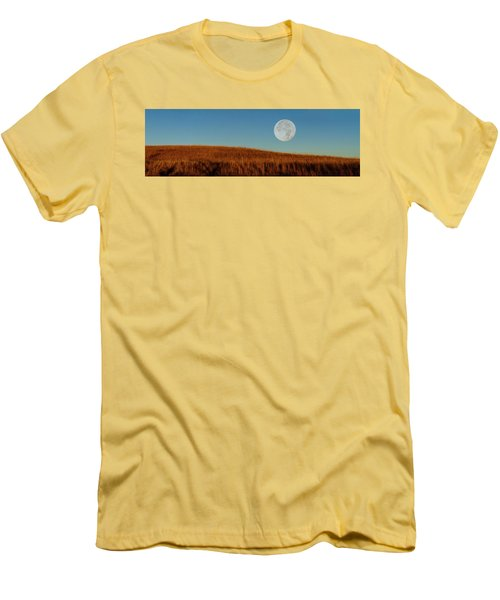 Super Moon Over The Prairie Men's T-Shirt (Athletic Fit)
