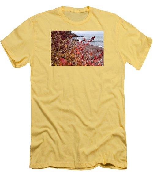 Superior November Color Men's T-Shirt (Slim Fit) by Sandra Updyke