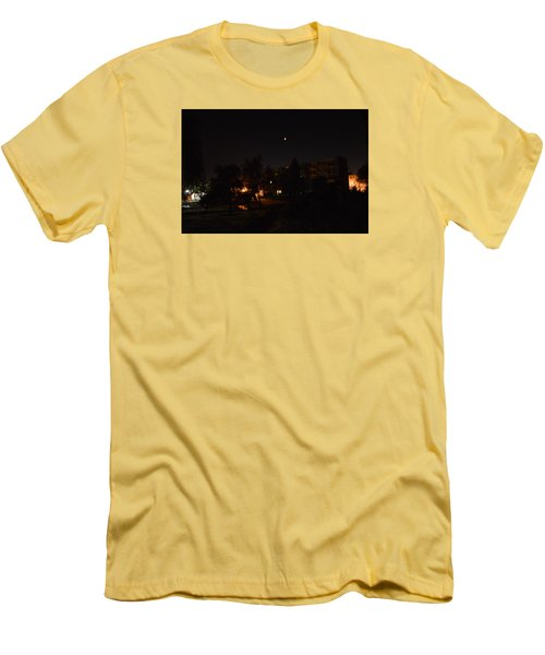 Supermoon Men's T-Shirt (Slim Fit) by Henryk Gorecki