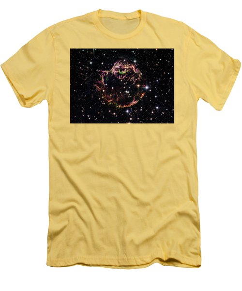 Men's T-Shirt (Slim Fit) featuring the photograph Supernova Remnant Cassiopeia A by Marco Oliveira
