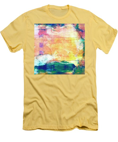 Men's T-Shirt (Slim Fit) featuring the painting Surface Vector by Dominic Piperata