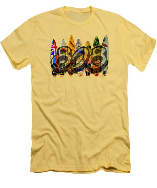Surfin' 808 Men's T-Shirt (Slim Fit) by DJ Florek