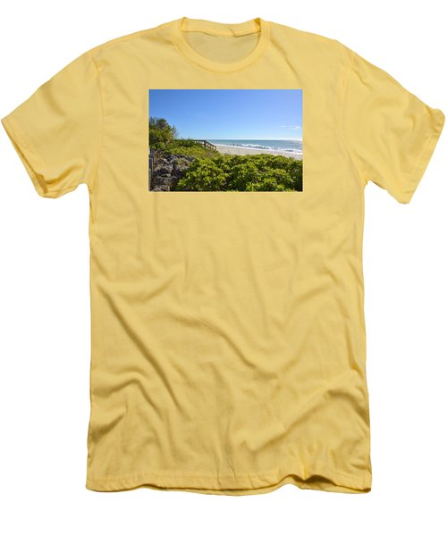 Surfs Up On Casey Key Beach Men's T-Shirt (Athletic Fit)
