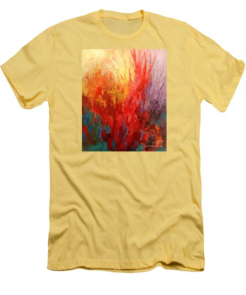 Men's T-Shirt (Slim Fit) featuring the painting Swagger Of A Troubador by Tatiana Iliina