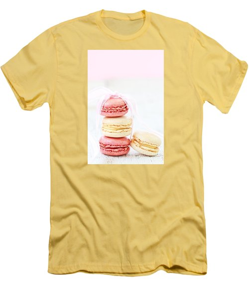 Sweet French Macarons Men's T-Shirt (Slim Fit) by Stephanie Frey