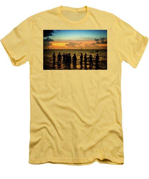 Swimmers Sunrise Men's T-Shirt (Athletic Fit)