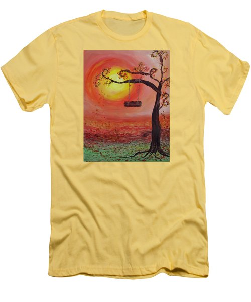 Swing Into Autumn Men's T-Shirt (Slim Fit) by Barbara McDevitt