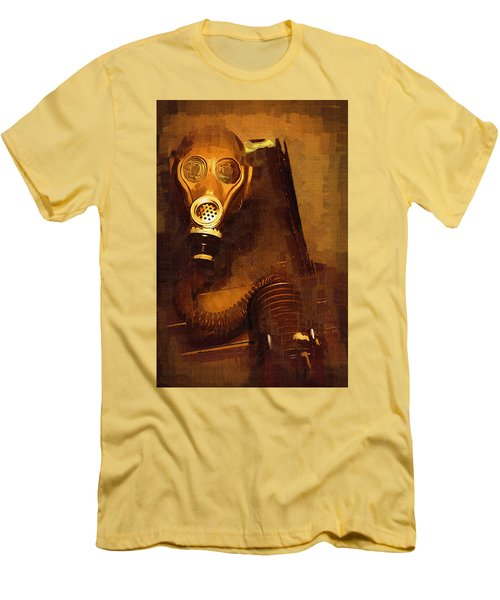 Men's T-Shirt (Slim Fit) featuring the painting Tainted by Holly Ethan