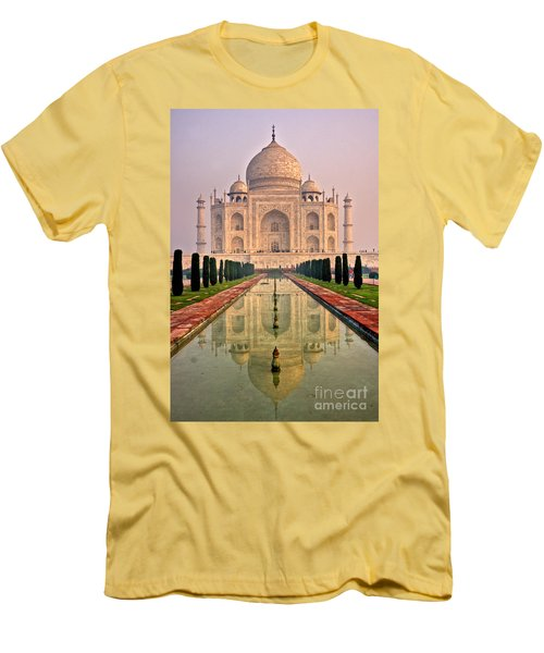 Taj Mahal At Sunrise Men's T-Shirt (Slim Fit) by Luciano Mortula